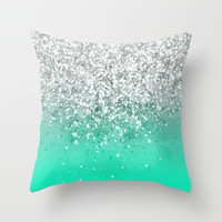 Glitteresques XXXV Throw Pillow by Rain Carnival