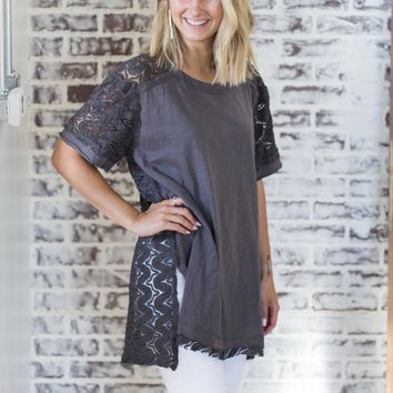 Rosalie Charcoal Top