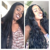 Straight to Curly Lace Wig 30 inches !!