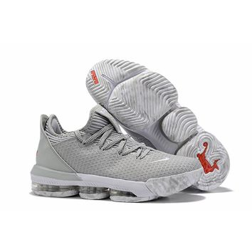 """Nike LeBron 16 Low """"Wolf Grey"""" Basketball Shoes - Best Deal Online"""