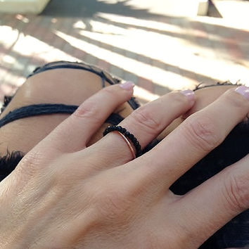 Cult Ring, Chain Ring, Rose Gold Ring