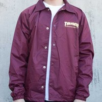 Thrasher Magazine Shop - Thrasher Pentagram Coach Jacket (Maroon)