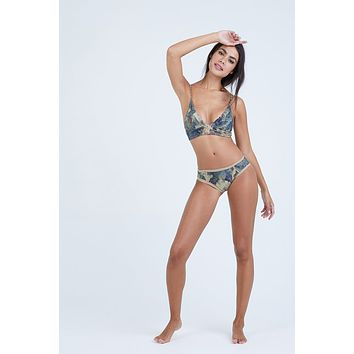 Dana The Delinquent Triangle Bikini Top - Everglade