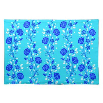 Pretty Blue Floral Placemat