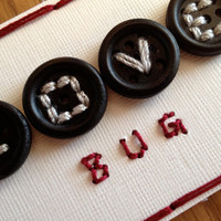 Love Bug - Button Stitched ACEO