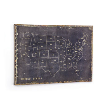 Map of the States Canvas