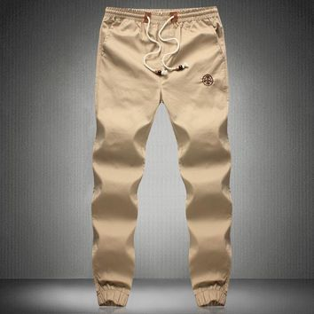 Hip Hop Mens Skinny Cargo Pants Black Khaki And green Joggers With Pockets On Side For Men Chino Pant