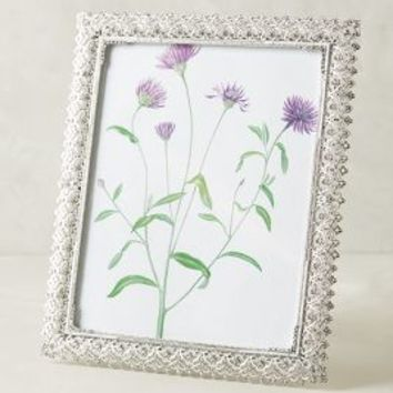 """Olivia Riegel Scalloped Crystal Frame in Silver Size: 8"""" X 10"""" Frames"""
