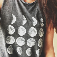 Moon Phase Grey T shirt