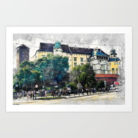 Cracow art 2 Wawel #cracow #krakow #city Art Print by jbjart