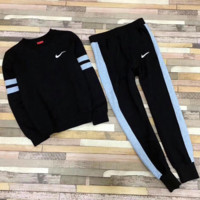 ''NIKE'' fashion print sweater long sleeve set