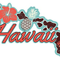 "Premium Hawaiian Islands Decal Sticker 8""x4"" Weatherproof UV Resistant Vinyl Decal Sticker for Cars, Trucks, Windows, Walls, Laptops, and other stuff. 100% Satisfaction Guaranteed!"