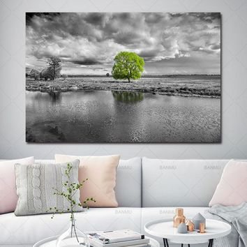 wall picture print Canvas painting Pictures Wall art print landscape flower tree home decor Pictures print for Living Room