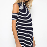 Turini Dress - Navy/White Stripe