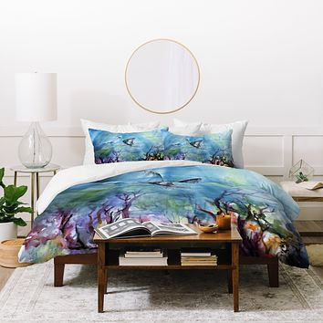 Ginette Fine Art Birds of the Ocean Duvet Cover
