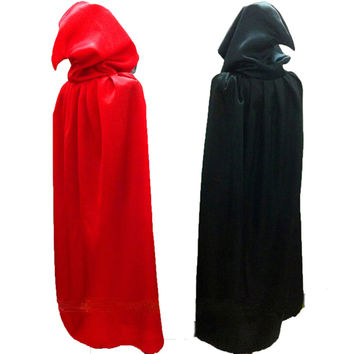 Gothic Hooded Stain Cloak Wicca Robe Witch Larp Cape Women Men Halloween Costumes Witche Vampires Fancy Party Size S M L XL