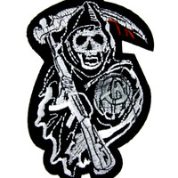 Sons of Anarchy Patch Iron on Applique Biker Grim Reaper