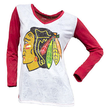 Chicago Blackhawks Cameo Burnout Long Sleeve