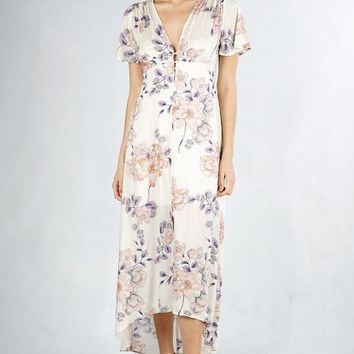 Isolde Floral Dress - Blush/Natural