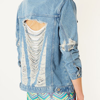 MOTO Super Rip Denim Jacket - New In This Week - New In - Topshop USA