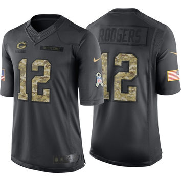 NFL Green Bay Packers Aaron Rodgers #12 Salute to Service  Nike Men's Home Limited Jersey 2016