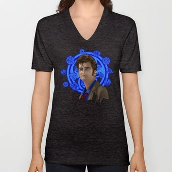 Doctor Who 10th generation Unisex V-Neck by Three Second