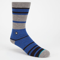 Stance Lowell Mens Crew Socks Blue/Grey One Size For Men 24710628601