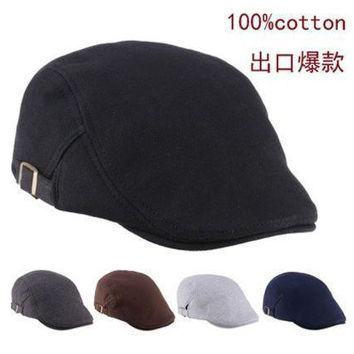 2015 Mens Womens Duckbill Fashion Classic Beret Cabbie Newboy Pure Color Flat Hat Golf Driving Cap [9221947460]