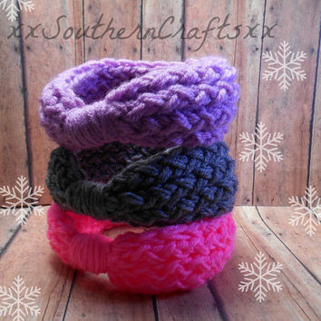 Baby Girl Headband, Baby Head Wrap, Baby Girl Gift, Winter Baby Headwrap, Knit Baby Turban, Baby Knot Headwrap, 0-12 Month Sizing Options