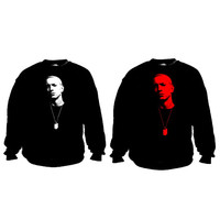 Eminem dog tag crew neck sweatshirt