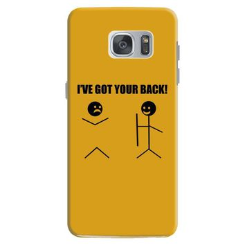 i've got your back t shirt tee funny novelty tee pun stick figure joke Samsung Galaxy S7