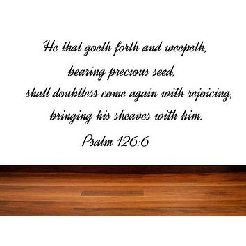Vinyl Wall Decal Wall Sticker Bible Verse - Scripture Wall Decal from the book of Psalms