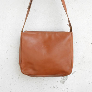 Vintage LONGCHAMP PARIS Leather Tote , Crossbody Tote / Medium / Made in France