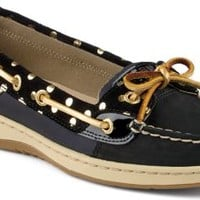 Sperry Top-Sider Angelfish Foil Dot Slip-On Boat Shoe Black, Size 7M  Women's Shoes