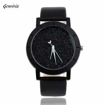 Men's Star Minimalist Fashion Watches with Leather Strap
