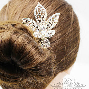 Wedding Accessories Wedding Headpiece Swarovski Crystal Hair comb Bridal Hair comb Bridal Hair pins Wedding Hair Comb Rhinestone Hair comb