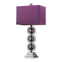 Dimond D2232 Alva Purple & Black Nickel Table Lamp