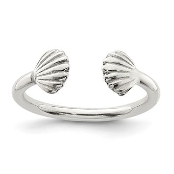 925 Sterling Silver Shell Ring