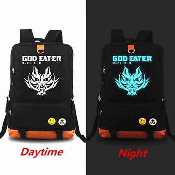 Japanese Anime Bag Hot New  God Eater Backpacks Knapsack Luminous Travel Laptop bag Teenagers Men Women's Student School Bags Mochila feminina AT_59_4
