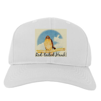 Red-tailed Hawk Text Adult Baseball Cap Hat