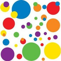 RoomMates RMK1248SCS Just Dots Primary Colors Peel & Stick Wall Decals $9.97