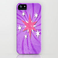 my grunge little pony.. twilight sparkle iPhone & iPod Case by studiomarshallarts