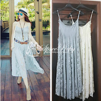 Good Quality Lace Joint  Adjustable Straps Dress SP130242