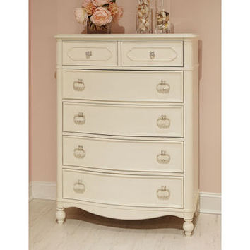 Legacy Harmony Drawer Chest In Antique Linen White