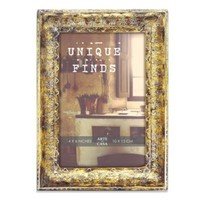 Arte de Casa Argento Tourance 4-Inch x 6-Inch Frame in Distressed Gold