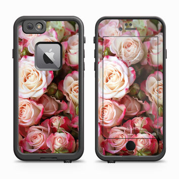 Pink and White Blended Roses Skin for the Apple iPhone LifeProof Fre Case