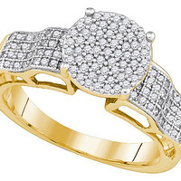 Diamond Micro-pave Bridal Ring in 10k Gold 0.39 ctw