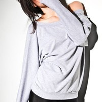 Womens Sweater Fall Fashion Dolman Heather Grey S M L by lamixx