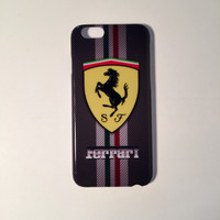 Ferrari logo custom iphone cases with racing stripe