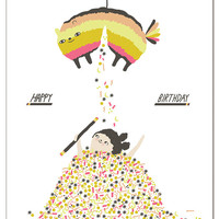 Piñata - greeting card